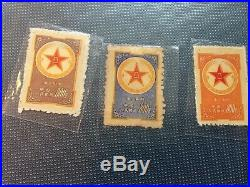 PRC China 1953 M1 blue Military Stamp BLOCK OF 4 MNH