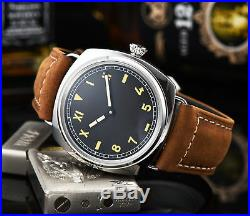 Parnis hand winding Watch 47MM Black sterile Dial military Mechanical A4