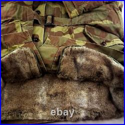 Polo Ralph Lauren Country $998 Camo Faux Fur Lining Military Parka Jacket 2XL
