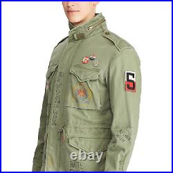 Polo Ralph Lauren Vintage 1967 US Flag Military Graphic Field Jacket New $598