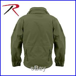 Rothco 9745 Waterproof Special OPS Tactical SoftShell Jacket with Watch Cap Olive