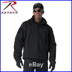 Rothco Waterproof Windproof Tactical SoftShell Jacket Cold Weather with Watch Cap