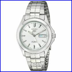 SEIKO 5 SNKK87 Mens Stainless Steel Automatic Silver Dial w Day/Date Watch $185