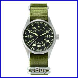 San Martin Flight Pilot Men Watch Automatic NH35 Stainless Steel Military Watch