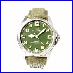 Seagull Automatic Chinese Military Watch D813.581 Luminous Numerals Green Dial