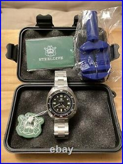 Steeldive SD1970 Free Strap! UPDATED 2020 Seiko 6105 Mens Automatic Dive Watch