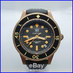 Steeldive Sd1952s Bronze Automatic Dive Watch, Fifty-fathoms Homage Free Strap