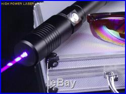 Strong Power Military 10000M Blue Laser Pointer 450nm 1. W Burning Lazer Torch
