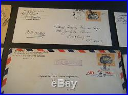 THIRTEEN Commercial ALL MILITARY Philippines US China Clipper Airmail Covers B