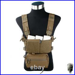 TMC Modular Lightweight Chest Rig Micro Fight Chassis Vest with Mag Pouch Military