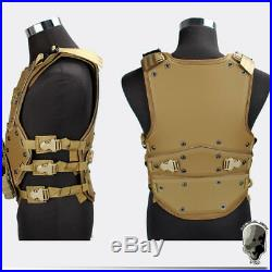 TMC TF3 Tactical Vest Transformer Body Armor Black Combat Military Cosplay Army