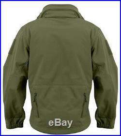 Tactical Soft Shell Jacket Olive Waterproof Windproof Special Ops Rothco 9745