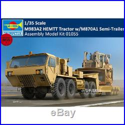 Trumpeter 01055 1/35 M983A2 HEMTT Tractor withM870A1 Semi-Trailer Assembly Model