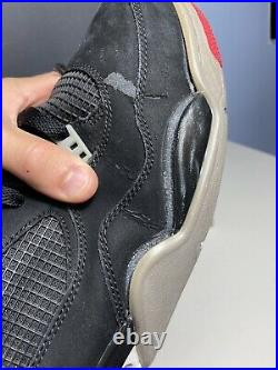 USED Nike Air Jordan 4 Retro Bred 2012 Red Military Blue White Cement Size 11.5