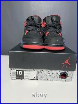 USED Nike Air Jordan 4 Retro Raptors Red Bred Military Blue White Cement Size 10