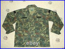 Unknown Country Army Woodland Camouflage Combat JacketPants, Military Uniform