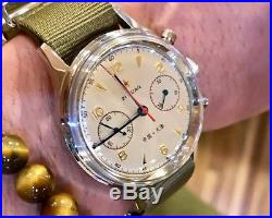 Vintage 1963 China Air Force Chronograph Mechanical Wrist Watch For Men