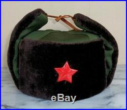 Vintage China Chinese Red Star Military Army Winter Ushanka Hat