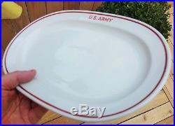 WWII US ARMY plate vtg Alt Schonwald german porcelain china antique military art