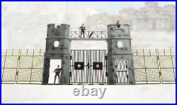 World Peacekeepers Military Base Gate Play Set Includes 3 Army Toy figures